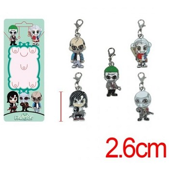 Suicide Squad key chains a set