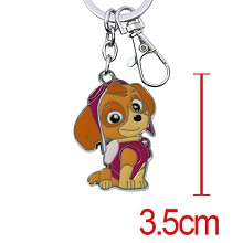 Paw patrol snow slide anime key chain