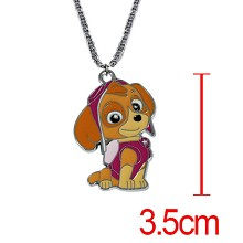 Paw patrol snow slide anime necklace