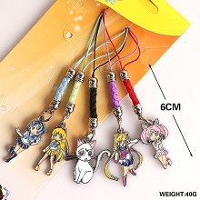 Sailor Moon anime phone straps set(5pcs a set)