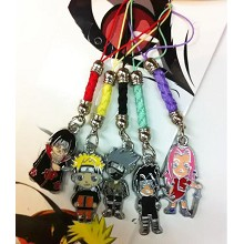 Naruto anime phone straps set(5pcs a set)