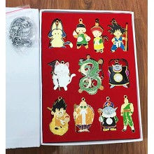 Dragon Ball anime key chains a set
