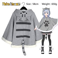 Neko Atsume anime cotton cloak mantle