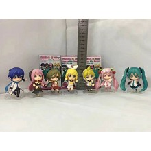 Hatsune Miku anime figures(7pcs a set)