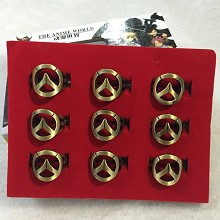 Overwatch rings set(9pcs a set)