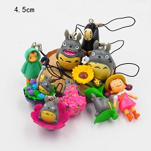 TOTORO anime figure dolls key chains set(9pcs a se...