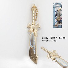 Hero Moba cos weapon knife key chain