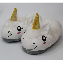 The anime plush slippers a pair