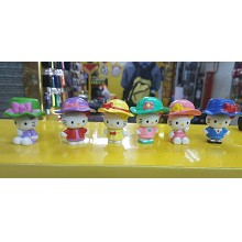 Hello Kitty figures set(6pcs a set)