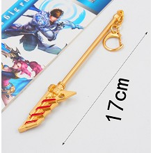 Overwatch cos weapon key chain