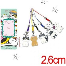 Neko Atsume phone straps a set