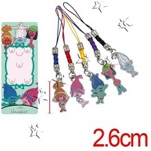 Trolls phone straps a set