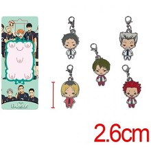 Haikyuu key chains a set