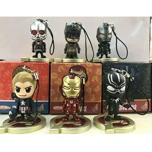 Marvel The Avengers figures key chains set(6pcs a ...