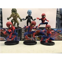 WCF Spider man figures set(6pcs a set)
