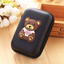 The bear anime wallet coin purse