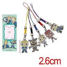 Vault boy anime phone straps set(5pcs a set)