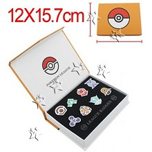 Pokemon anime brooch pins set(8pcs a set)