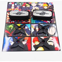 Naruto anime cos headbands+ weapons set(6pcs a set...