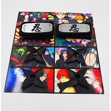 Naruto anime cos headbands+ weapons set(6pcs a set)