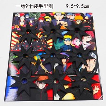 Naruto anime cos weapons set(9pcs a set)