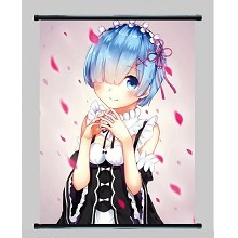 Re:Life in a different world from zero Rem wallscroll