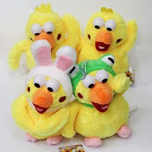 parrot plush dolls set(4pcs a set)
