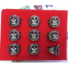 Hero Moba rings set(9pcs a set)