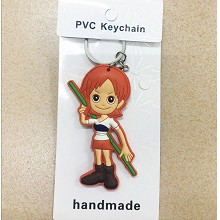 One Piece Nami anime two-sided key chain