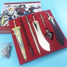 Fate anime weapons key chains set(7pcs a set)