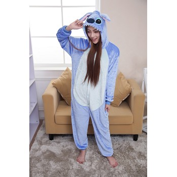 Cartton animal stitch flano pyjama dress hoodie