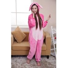 Cartoon animal stitch flano pyjama dress hoodie