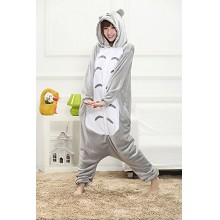 Cartoon TOTORO flano pajamas dress hoodie