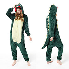 Cartton animal dinosaur flano pyjama dress hoodie