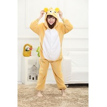 Cartoon Rilakkuma flano pyjama dress hoodie
