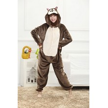 Cartton animal Chipmunk flano bpyjama dress hoodie