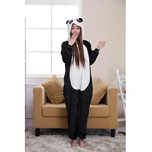 Cartoon animal panda flano pyjama dress hoodie