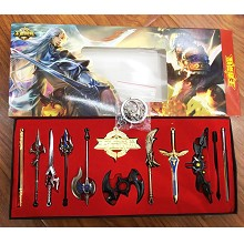 Hero Moba key chains a set