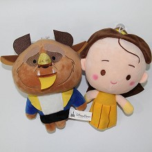 8inches Beauty And The Beas plush dolls set(2pcs a set)