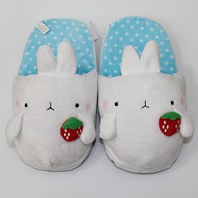 Molang plush shoes slippers a pair