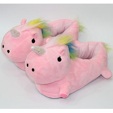 Unicorn plush shoes slippers a pair