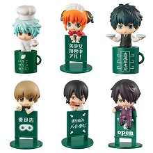 Gintama anime figures set(6pcs a set)