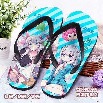 The anime shoes slippers a pair