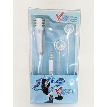 Hatsune Miku anime headphone+microphone