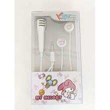 My Melody anime headphone+microphone