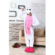 Cartoon animal Unicorn flano pyjama dress hoodie