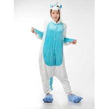 Cartoon animal Unicorn flano pajamas dress hoodie