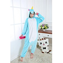 Cartoon animal My Little Pony flano pajamas dress hoodie