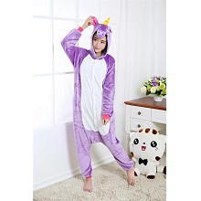 Cartoon  animal My Little Pony flano pyjama dress hoodie
