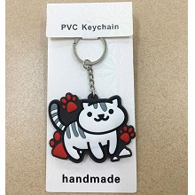 Neko Atsume two-sided key chain